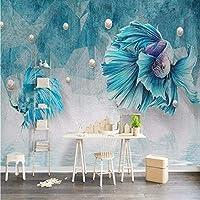 Djskhf ダマスクシルク3D壁画壁紙用壁リビングルームホームセンター装飾現代3D壁紙背景壁画紙 280X200Cm