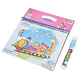 Libro da colorare Acqua Pittura Bordo Opaco con Penna Magica Doodle per Bambini Arte Disegno Primi Giocattoli educativi(Journey)