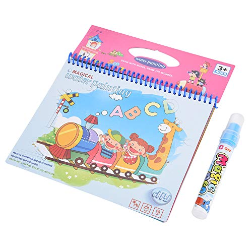 Garosa Coloring Book Water Drawing Pintura Mat Board con Magic Pen Doodle para niños Dibujo de Arte Early Educational Toys(Journey)