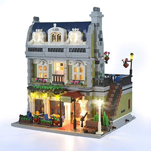 HZQM LED Light Kit for Creator Expert Parisian Restaurant  Compatible with Lego 10243 Building Bricks Model Lego Set Not Included