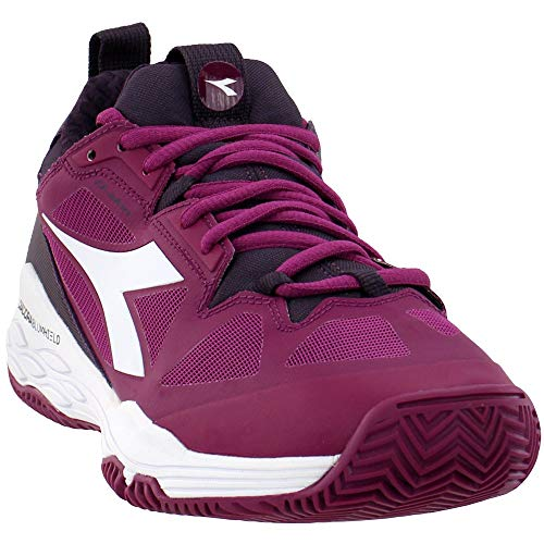 Diadora Womens Speed Blushield Fly 2 Clay Tennis Casual Shoes, Purple, 11