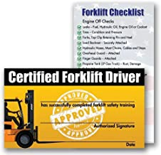 Forklift Certification Training Cards (Package of 10)