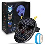 PULOUX Tiktok Explosive Led Face Changing Mask Creative Fashion Halloween Essential Gift child