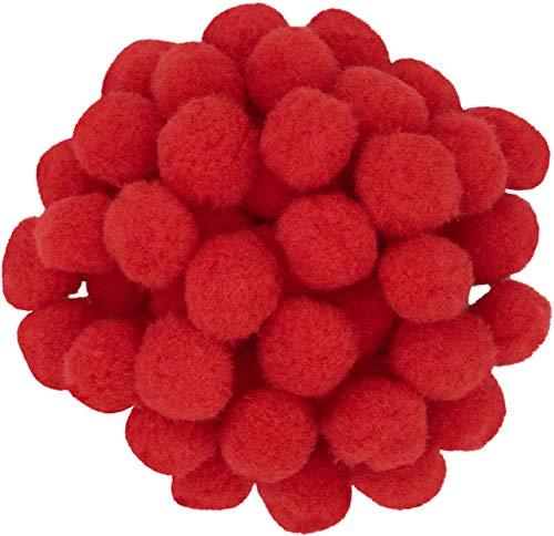 i-mondi® Pompon, colore: rosso, 50 pezzi, misura: 25 mm