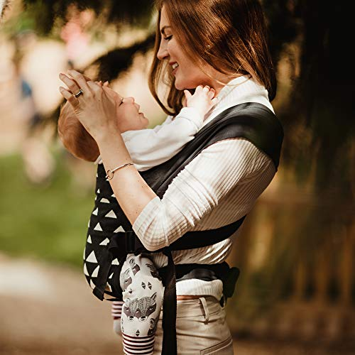 Izmi Special Edition Baby Carrier   Award Winning Adjustable Soft Structured Sling with 4 Different Carrying Positions   UK Hip Healthy Design Suitable from Newborn   Navy Triangle