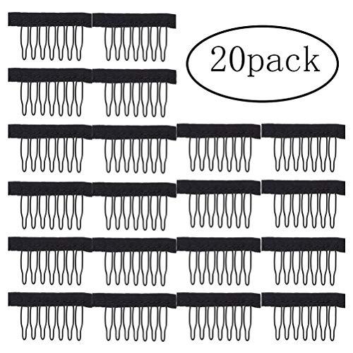 Perückenklammern, Legierung, Zahnkamm, für Perücken-, Haarnetzkappen, 20 Stück
