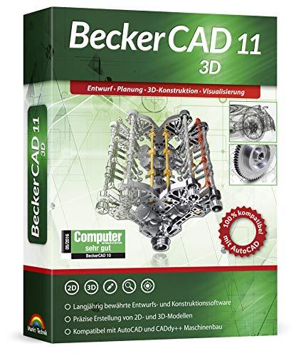 Becker CAD 11 3D für Windows 10 8 7 | Cad-Software für Architektur, Maschinenbau, Modellbau und Elektrotechnik | 3D CAD Programm kompatibel mit Autocad