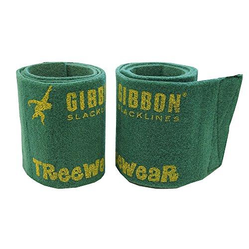 Gibbon Slacklines Tree Wear, Baumschutz, Grün, Länge: 100 cm, Breite: 16 cm, Schutz für Band und Baum