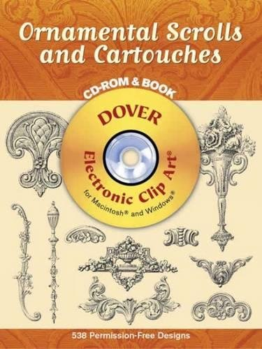 Compare Textbook Prices for Ornamental Scrolls and Cartouches Book & CD Dover Electronic Clip Art  ISBN 9780486996516 by Syracuse Ornamental Company