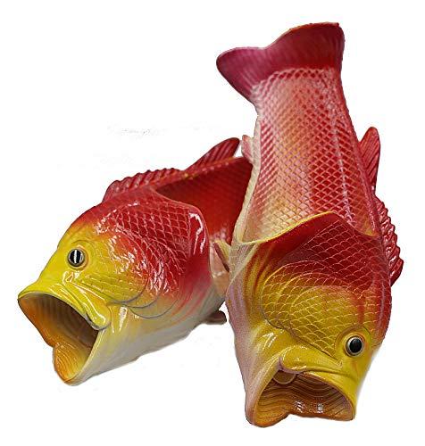 魚サンダル リアル ギョサン おもしろグッズ サンダルシューズ スリッパ メンズ レディース キッズ レッド 46