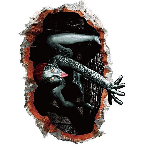 1PC Halloween 3D Autoadhesivo Pared Pegatinas Remover Pared Papel Arte decoración del hogar Haunted casa decoración Puerta Cubierta Zombie Manos, A, About 60cm*45cm