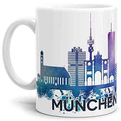 Tassendruck München-Tasse Skyline - Kaffeetasse/Mug/Cup - Qualität Made in Germany