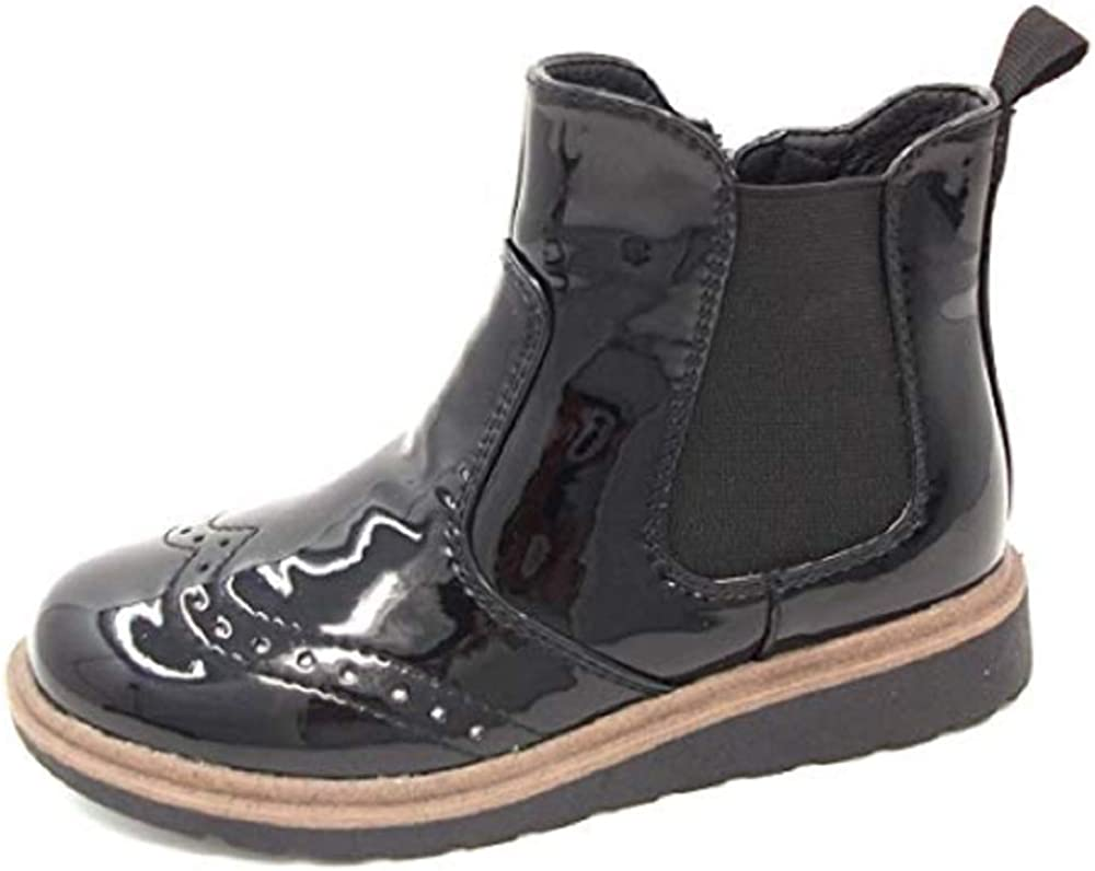 Girls Ankle Boot in Black Patent by Chatterbox Molly Size UK 8,9,10,11,12