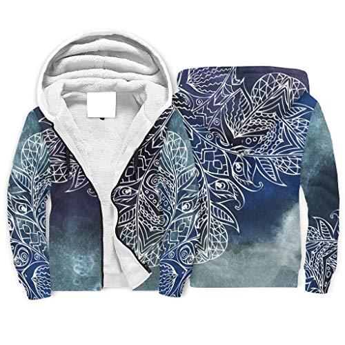 O5KFD & 8 - Sudadera con cremallera superior para hombre, diseño de mandala de ensueño, personalizable, con cordón de imitación étnico, cómoda blusa deportiva para regalos de cumpleaños, color blanco