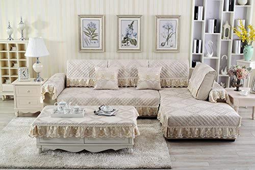 Beyrfcta Fundas de sofá seccionales, en forma de L, fundas seccionales, reversibles, antideslizantes, protectores de muebles con correas lavables (se venden por pieza/no todos los juegos)