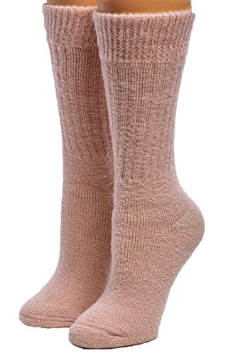 Warrior Alpaca Socks – Damen Toasty Toes Ultimate Alpaca Socken -  Pink -  Medium