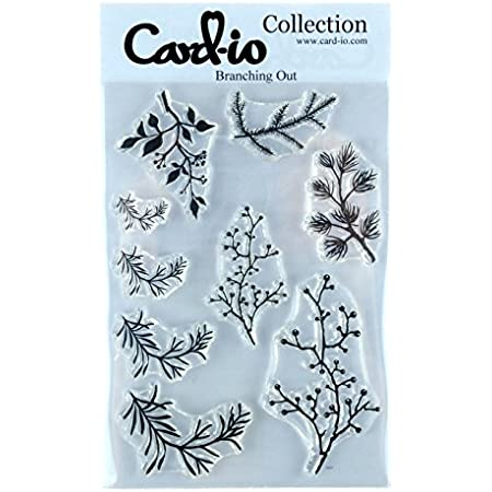 Synthetic Material Card-io Spring Breeze Clear Stamp Set 21 x 10.9 x 0.4 cm