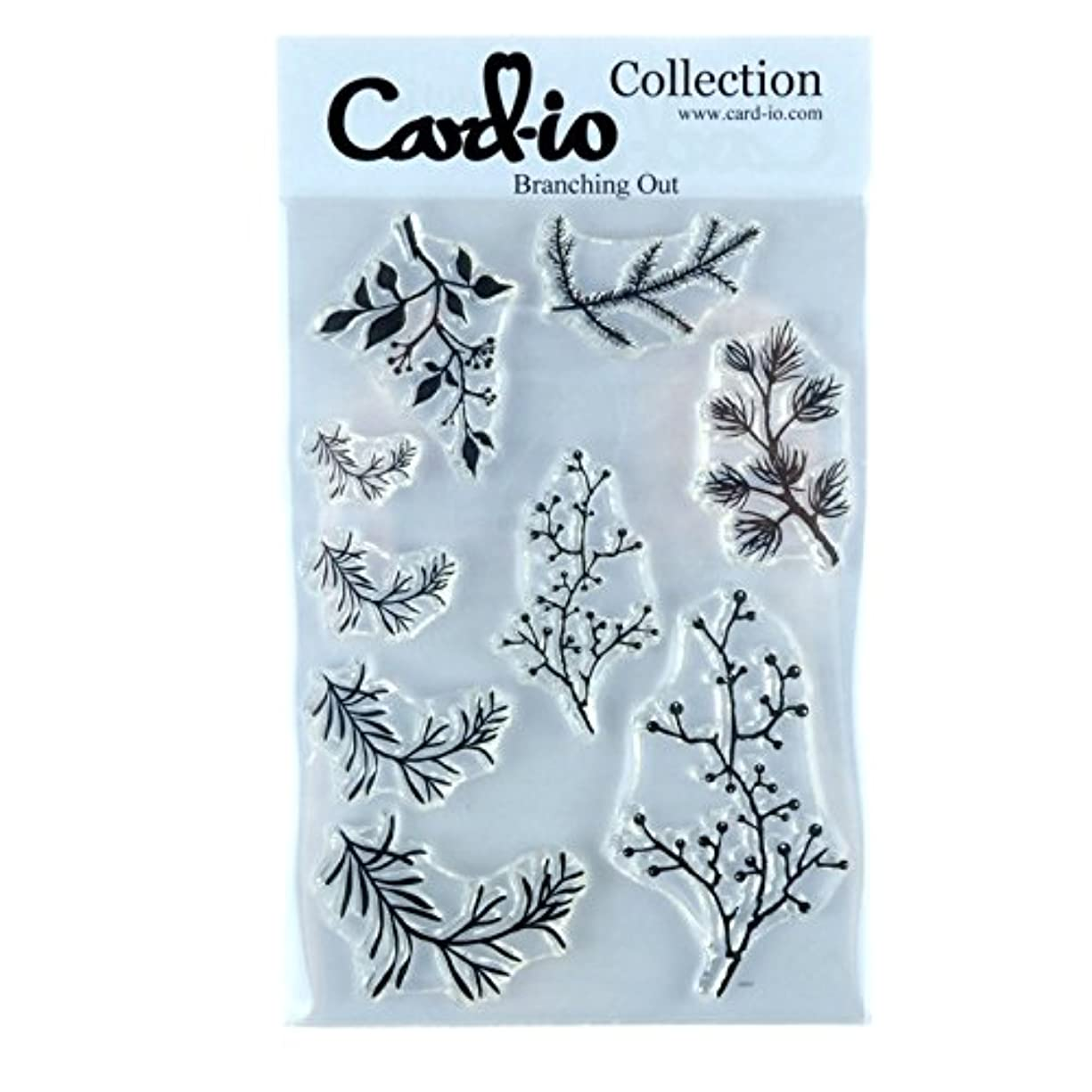 Card-io Branching Out Clear Stamp Set, Synthetic Material, 22.4 x 11.4 x 0.4 cm