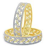 Shiv-Collection, braccialetto etnico tradizionale color oro con pietra CZ alla moda, gioielli da donna e base metal, colore: bianco, cod. DB-20