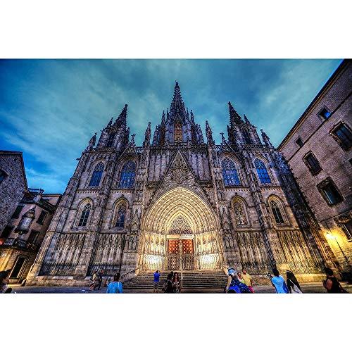 Puzzles Catedral De Barcelona Rompecabezas, Adultos Bricolaje Niños Educación Intelectual Juego Juguetes del Regalo, 500/1000/1500/2000/3000 Piezas 0708 (Color : B, Size : 2000 Pieces)