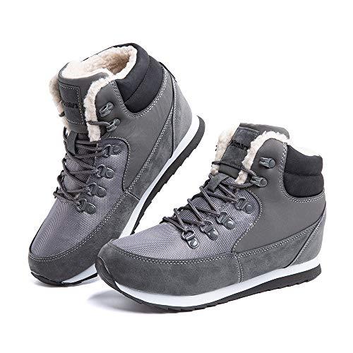 Botas Invierno Hombre Mujer Zapatillas Altas de Nieve Forradas Zapatos Sneaker Trekking...