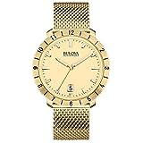 Bulova 97B129 Men's Watchs BA11 Gold Steel Bracelet Watch
