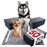 ValuePad Plus Carbon Puppy Pads, XXL Gigantic 28x44 Inch, 50 Count - Premium Pee Pads for Dogs, Activated Charcoal Odor Control, Super Absorbent Polymer Gel Core, 5-Layer Design