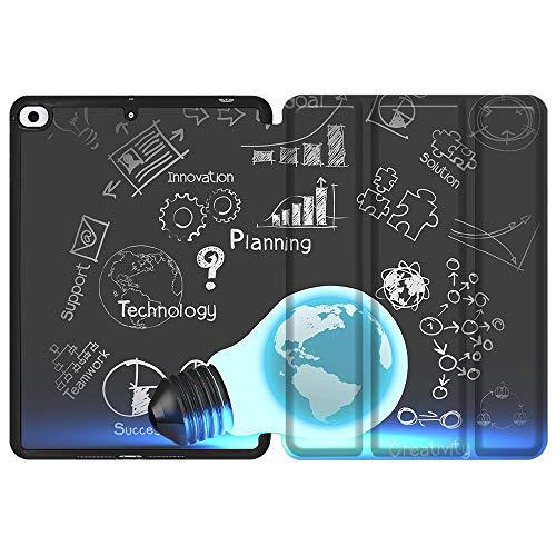 SDH Funda para iPad Mini 7.9 de 5ª generación 2019,funda protectora de TPU suave para la parte trasera de reposo/despertar automático para iPad Mini 5 2019/iPad Mini 4 4th 2015, bombilla 3