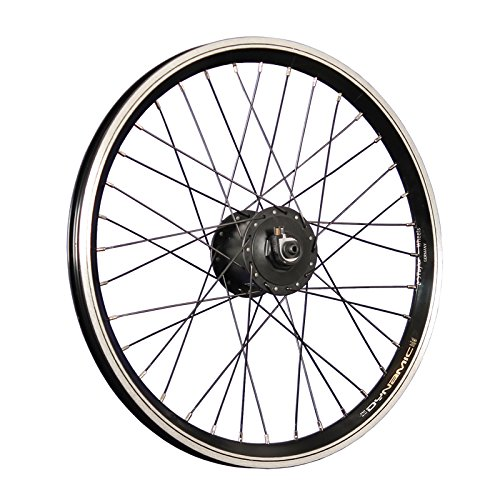 Taylor-Wheels 20 Zoll Vorderrad Laufrad Grünert Dynamic4 Shimano DH-C3000 Nabendynamo schwarz