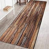 Wingbind Tapis Non-Slip Grande Porte Vintage Chic Patterned Carpet Tapis de Sol Tapis d'escalier pour Salon Chambre Cuisine Hall d'entrée, 1.3x4ft