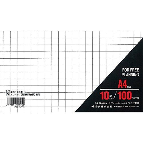 オキナプロジェクトパーパーA410ミリ方眼100枚PPA40S