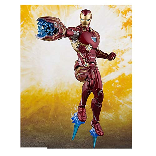 WXFQX New Avengers Marvel SHF Mk50 Infinity War Iron Figure Figura Man MK 50 Mark PVC Figura Collectible Modelo de Regalo de Juguete 16 cm Regalos para niños