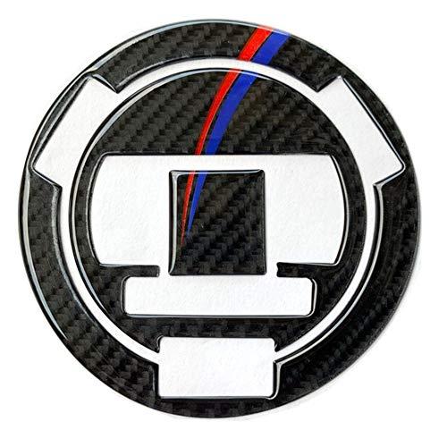Motocicleta de Fibra de Carbono tapón del depósito de Combustible Etiqueta de la Etiqueta for BMW S1000RR S1000R S1000 RR HP4 Pegatinas de Motocicleta (Color : Tank Cap)