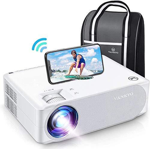VANKYO - Videoproyector WiFi Full HD 1080P, retroproyector 5G, WiFi, Ajuste 4D, función Zoom, proyector portátil HDMI VGA AV USB, Home Cinema para presentación PPT, iOS Android
