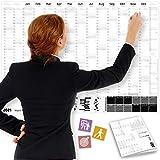 Wandkalender 2021 SCHWARZ-WEISS, DIN A1+ (89x63 cm)   GEFALTET   228 Sticker für Projekte, Meetings   16 Monate: Nov'20-Feb'22   Jahresplaner für Office, Büro, Teams   Ferien, Feiertage, Quartale