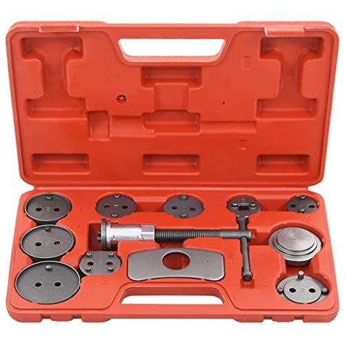 vidaXL Bremskolbenrücksteller Set 13-TLG. Bremskolben Satz Kolben Bremsen Bremsbelag Wechsel Rücksteller KFZ Werkzeug Bremskolbenrücksetzer