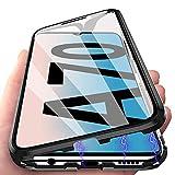 Coque pour Samsung A70, Coque Adsorption Magnétique avec Verre Trempé pour Samsung Galaxy A70,...