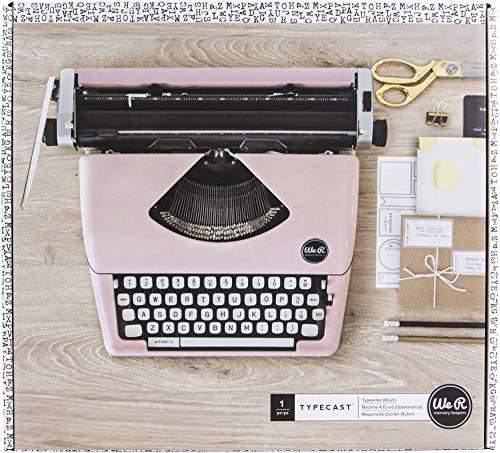 We R Memory Keepers Schreibmaschine Schreibmaschine Schreibmaschine pink