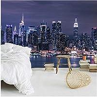 モダンなニューヨーク市の夜景写真壁画壁紙リビングルーム-300x210cm