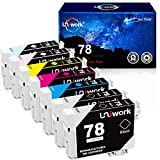 Uniwork Remanufactured Ink Cartridge Replacement for Epson 78 T078 use in Artisan 50 Stylus Photo R260 R280 R380 RX580 RX595 RX680 Printer (7 Pack)