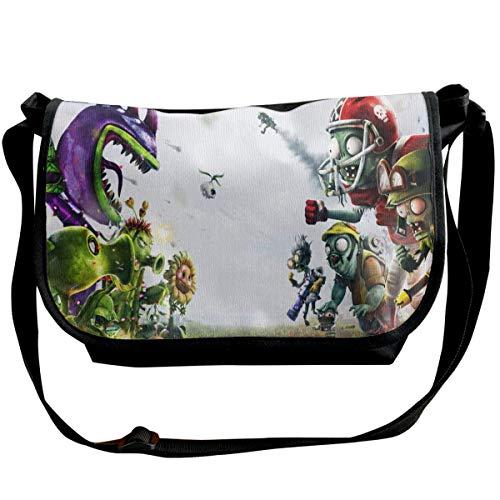 JONINOT Plants vs. Zombies Shoulder Bags Commute Messenger Bag Work Purses Crossbody Satchel Schoolbag
