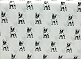 WHIMSICAL Hotel Collection French Bulldog 4 Piece Full Size Microfiber Sheet Set