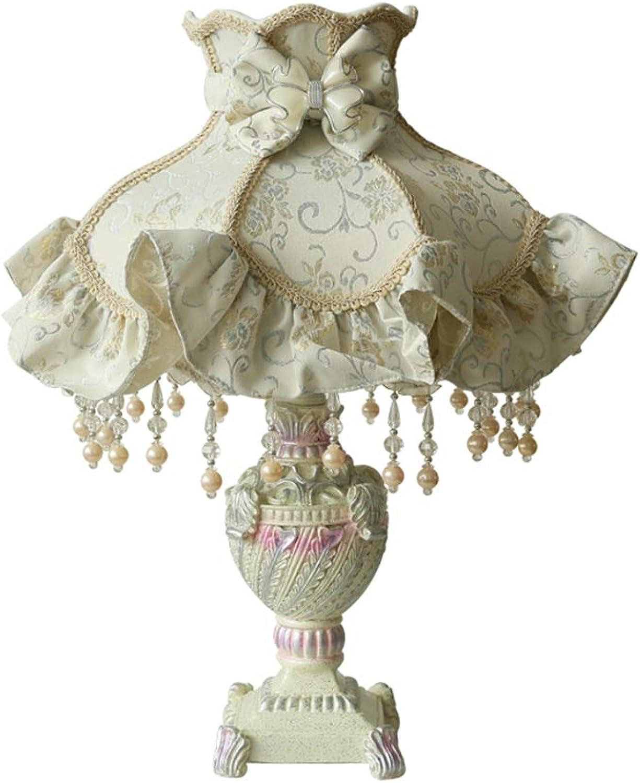 SACYSAC Nachttischlampe, Tischlampe aus Stoff, Schlafzimmer, Wohnzimmer, dekorative Tischlampe