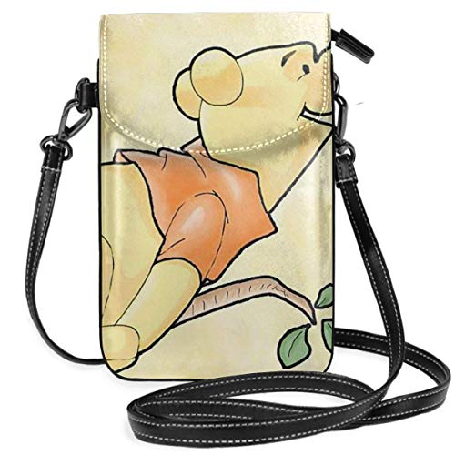 Lsjuee Womens Crossbody Bags De Winnie Pooh Small Cell Phone Purse Wallet with Credit Card Slots