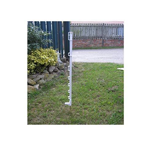 Ivisons Blanc 0,9 m Poly poteaux de clôture électrique 10–60 Deals Post Paddock Cheval Poney 30