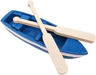 SUPVOX Wooden Boat Canoe Paddles Ocean Resin Micro Landscape Decoration Models for Kids Children