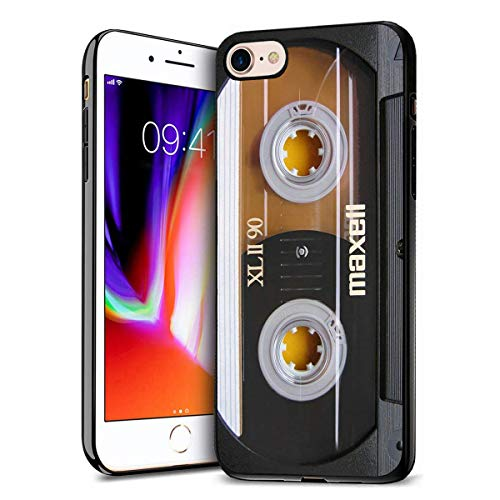 iPhone 7 Case, iPhone 8 Case, Premium TPU Ultra Thin Flexible Shock Absorbent Silicone Rubber Protective Cover for iPhone 7 / iPhone 8 (4.7 inch) - Vintage 80s Music Cassette