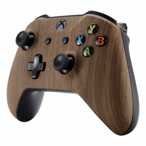 Xbox One S/X Modded Rapid Fire Soft Touch Controller - Includes Largest Variety of Modes -Jump Shot, Drop Shot, Quick Aim, Auto Aim, Quick Scope - Master Mod - Wood - (Woodgrain)