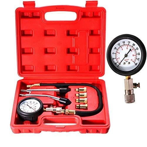 ZHENGZEQU Probador de presión La Gasolina for Motores de Gas del Cilindro del compresor Indicador de presión Medidor de compresión de Prueba probador de la Salida de diagnóstico 8PCS