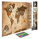 decomonkey Rubbelweltkarte TOP AKTUELLE Weltkarte mit